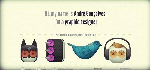 AndrGonalvesIGraphicDesignerwww andregoncalves com 40+ Beautiful Cartoon Style Creative Website Designs