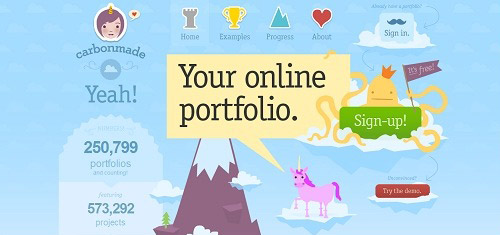 Carbonmade Youronlineportfolio carbonmade com 40+ Beautiful Cartoon Style Creative Website Designs