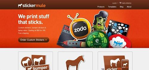 CustomStickersDieCutStickersandLaptopSkinsStickerMulewww stickermule com 40+ Beautiful Cartoon Style Creative Website Designs