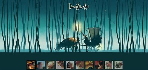 DenisZilberArtwww deniszilber com 40+ Beautiful Cartoon Style Creative Website Designs