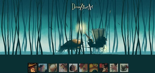 DenisZilberArtwww deniszilber com 40+ Beautiful Cartoon Style Creative Website Designs