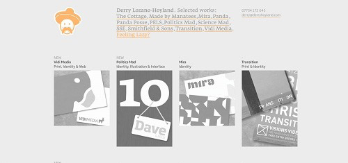 DerryLozanoHoyland  GraphicDesigner  Londonwww derryhoyland com 40+ Beautiful Cartoon Style Creative Website Designs