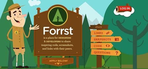 ForrstAplacefordesignersanddeveloperstosharescreenshotslinkscodeandquestionsw 40+ Beautiful Cartoon Style Creative Website Designs