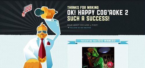 HappyCogaoke2ok cogaoke com 40+ Beautiful Cartoon Style Creative Website Designs