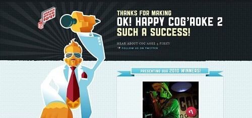 HappyCogaoke2ok cogaoke com 40+ Beautiful Cartoon Style Creative Website Designs