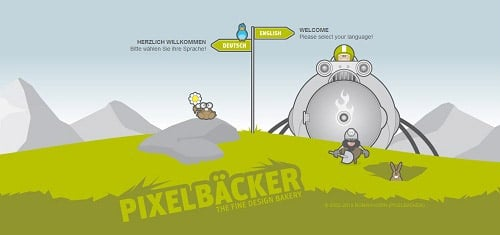PIXELBCKERITheDesignPortfolioofRomanHornwww pixelbaecker de 40+ Beautiful Cartoon Style Creative Website Designs