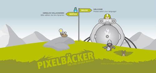 PIXELBCKERITheDesignPortfolioofRomanHornwww pixelbaecker de 40+ Beautiful Cartoon Style Creative Website Designs
