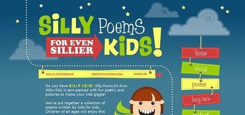 SillyPoemsforEvenSillierKidswww teamfannypack com sillypoems 40+ Beautiful Cartoon Style Creative Website Designs