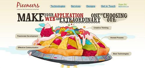 WebapplicationsRubyonRailsdevelopmentwebdesignbasedinVancouverBC Pieoneers co 40+ Beautiful Cartoon Style Creative Website Designs