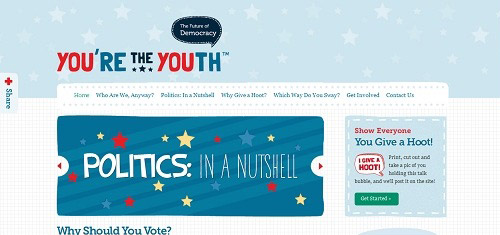 YouretheYouth TheFutureofDemocracyIBridgingtheGenerationGapBetweentheAmerican 40+ Beautiful Cartoon Style Creative Website Designs