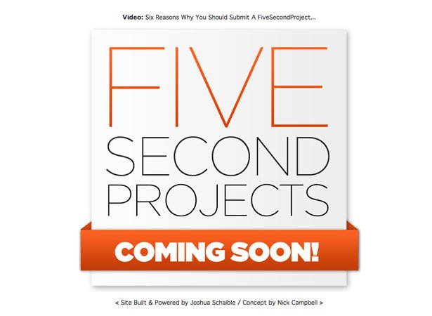 A Collection of Coming Soon Web Pages