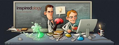 inspiredology 40+ Beautiful Cartoon Style Creative Website Designs