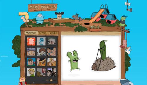 miki mottes 40+ Beautiful Cartoon Style Creative Website Designs
