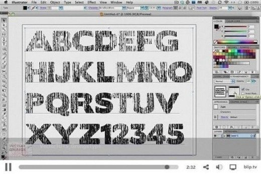 Outstanding Text Effects Tutorials in Illustrator
