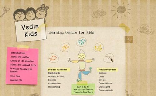 vedin kids1 40+ Beautiful Cartoon Style Creative Website Designs