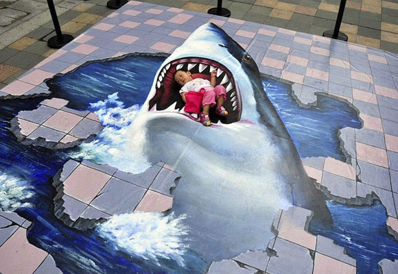 3D Shark Attack Illusion