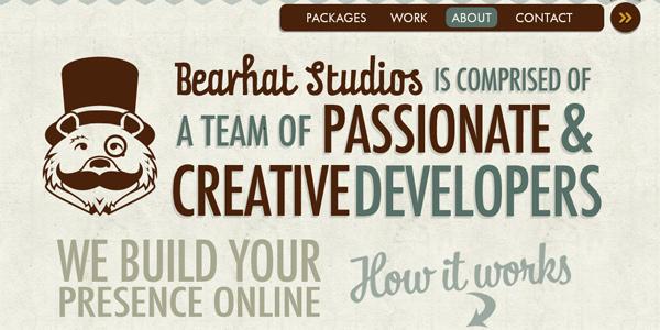 Bearhatstudios.com in Parallax