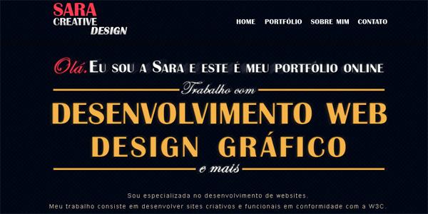 Saracreativedesign.com.br in Parallax
