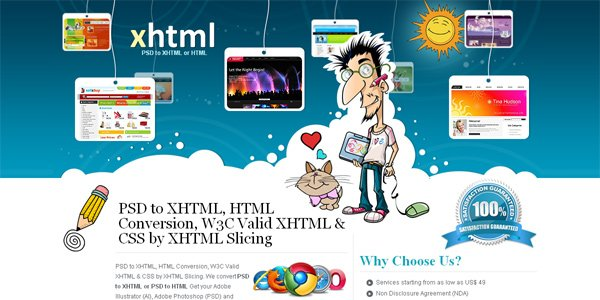 Xhtmlslicing.com in Parallax