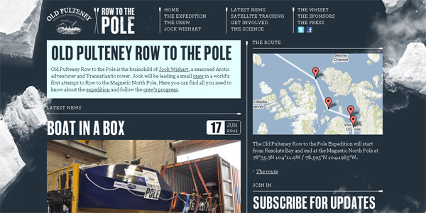 Rowtothepole.com in Parallax