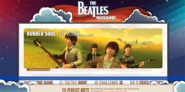 Thebeatlesrockband.com in Parallax