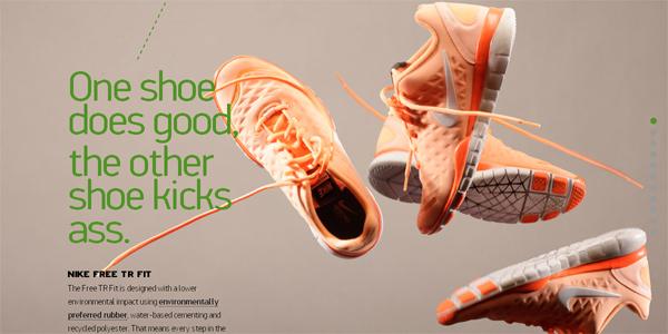 Nikebetterworld.com in Parallax