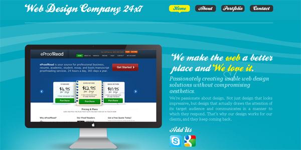 Webdesigncompany24x7.com in Parallax