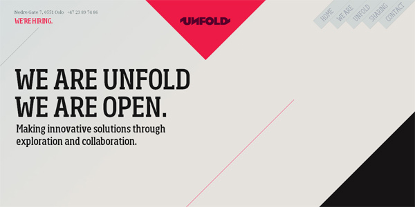 Unfold.no in Parallax