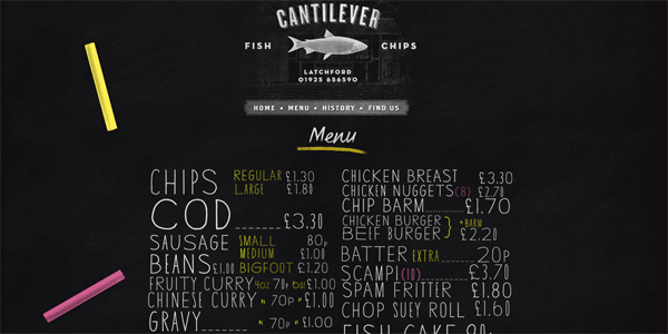Cantilever-chippy.co.uk in Parallax