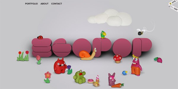 Egopop.net in Parallax