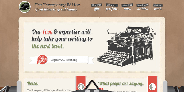 Threepennyeditor.com in Parallax