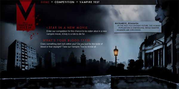 Vampirevictim.com in Parallax