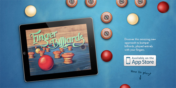 Fingerbilliards.com in Parallax