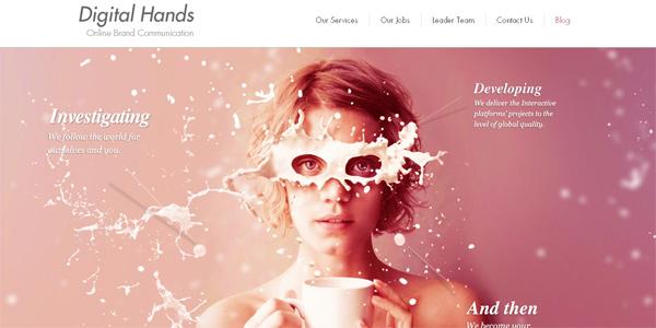 Digitalhands.net in Parallax