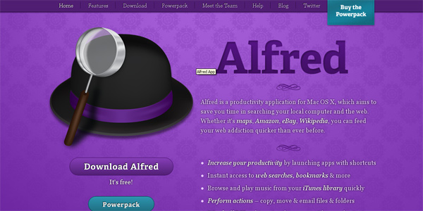 Alfredapp.com in Parallax
