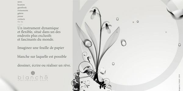 Blanchecannes.com in Parallax