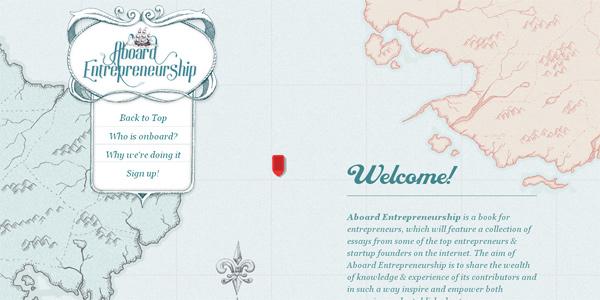 Aboard-entrepreneurship.com in Parallax