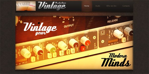 Vintage-productions.com in Parallax