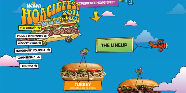 Hoagiefest.com in Parallax