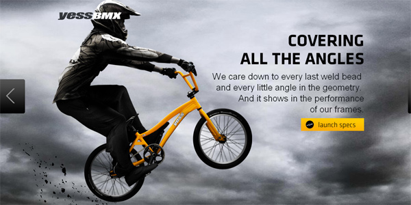 Yessbmx.com in Parallax