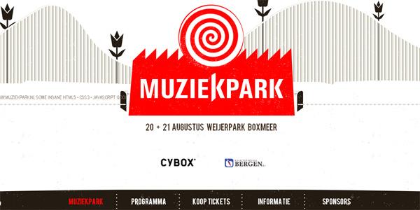 Muziekpark.nl in Parallax