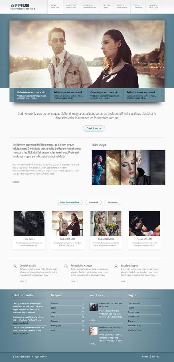 Appius - Premium WordPress Portfolio Theme