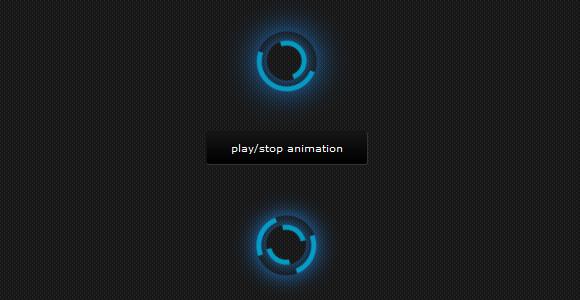 CSS3 Loading Animation Loop