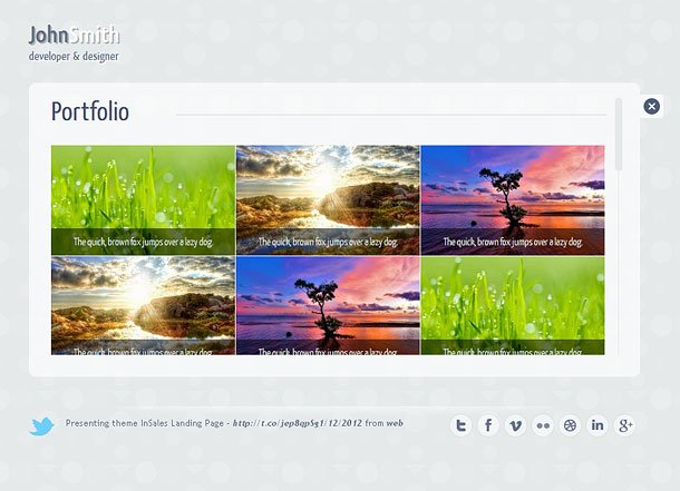 Circlus - Personal Portloio & vCard HTML5 & CSS3 WP