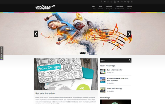 Eclipse - Responsive WordPress Theme