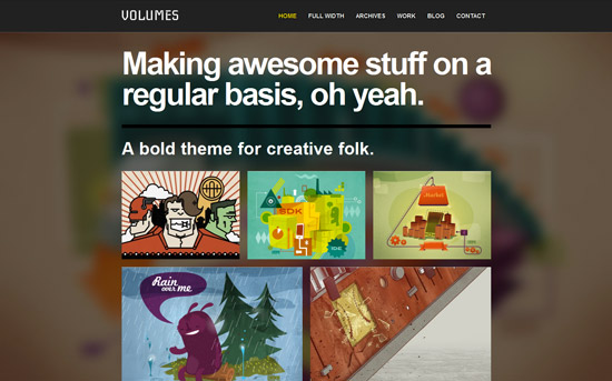 Volumes: Responsive Portfolio WordPress Theme