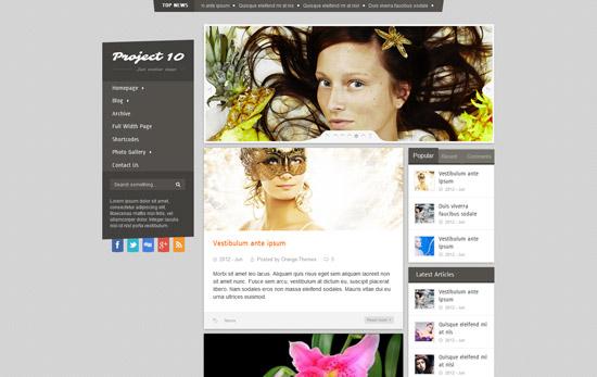 Project 10 - Magazine Theme