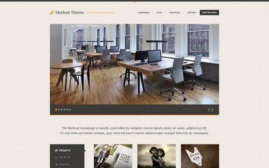 Method, a Responsive Business Theme for WordPress