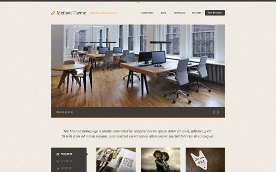 Method, a Responsive Business Theme for WordPress