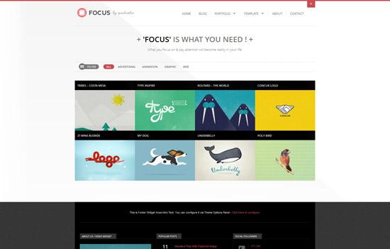 Focus - Clean & Responsive Ajax WordPress Theme